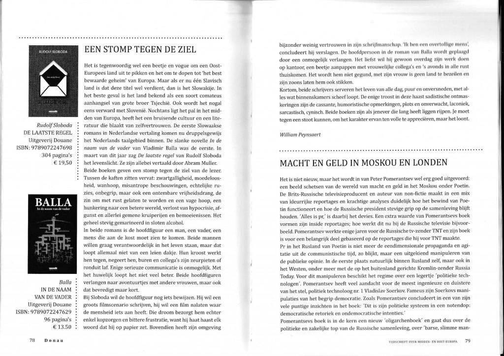 recensie Sloboda, tijschrift Donau 2015 nr.1